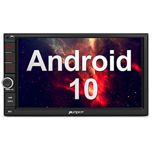 PUMPKIN Android 10 Autoradio Moniceiver 2GB + 32GB mit GPS Navi Unterstützt Bluetooth DAB + Eingebauter DSP WiFi 4G Android Auto USB MicroSD 2 Din 7 Zoll Bildschirm