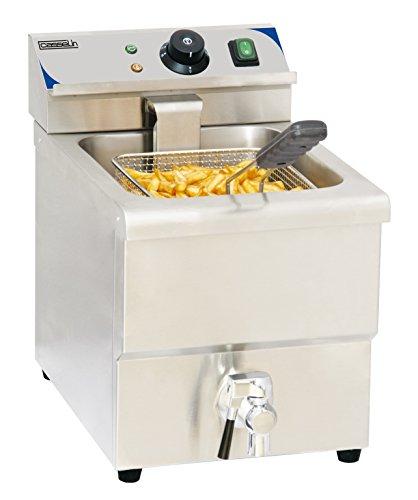 Casselin CFEV8 Elektrische friteuse met afvoerklep, 8 liter