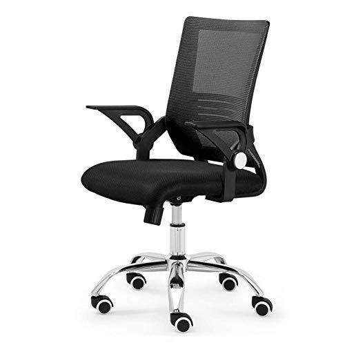 GPWDSN bureaustoel Ergonomisch, Computer Mesh bureaustoel, verstelbare armleuningen Unieke hoogte rugleuning, Lock Lumbar ondersteuning, Zwart