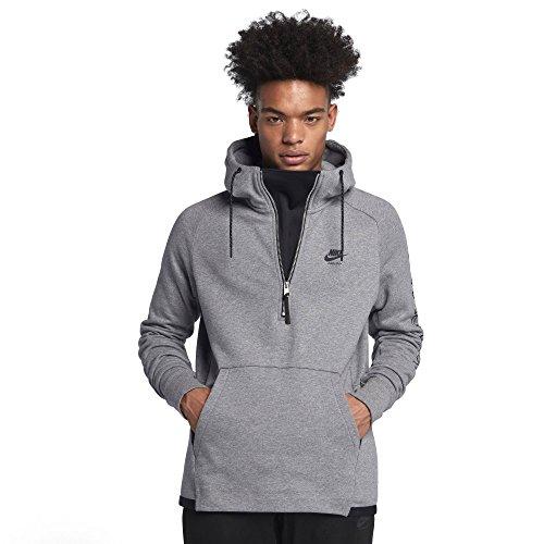 Nike Sportswear Air Max Pullover Hoodie Men 886075 (Carbon Heather/Black, Medium)