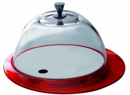 BUGATTI GL3U-02152 Glamour Table Plat avec Coupole SAN Rouge 30 x 30 x 16,5 cm