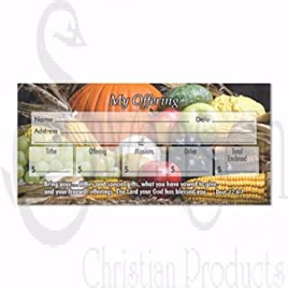 Swanson Christian Offering Envelope-My Offering (Fall Theme) (Pack of 100)
