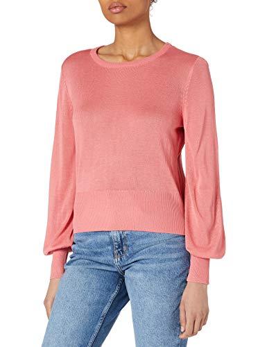 Only ONLKALEY L/S Pullover KNT Suter Pulver, Tea Rose/Detalles: W. Melange, L para Mujer