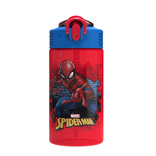 Zak Designs Marvel Kids Spout Cover and Built-in Carrying Loop Made of Plastic,...