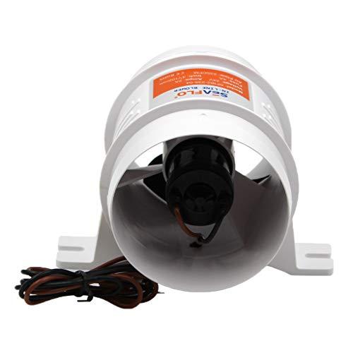 MagiDeal 4'24V 235CFM Ventilateur de Ventilation de Bateau Marin de Ventilateur de Cale en Ligne