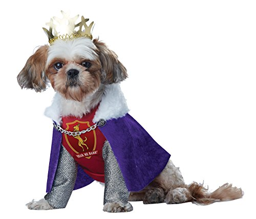 California Costumes Collections Pup-A-Razzi - Disfraz de Rey de Huesos para Perro, Color Morado/Rojo, Talla...