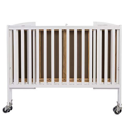 LA Baby Chromacoat Deluxe Holiday Mini/Portable Folding Metal Crib