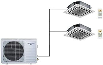 Thermocore 36000 BTU Ductless Mini Split Air Conditioner 18000 x 2 - Ceiling Cassette