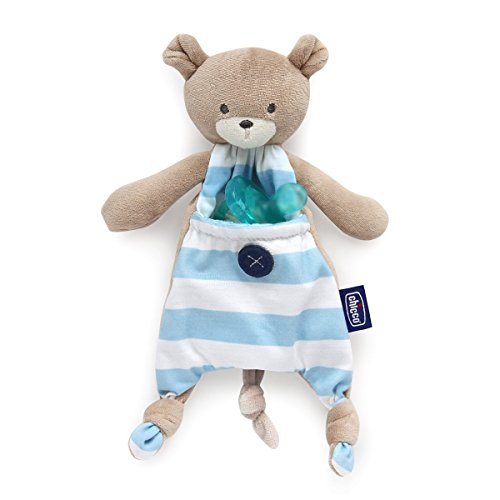 Chicco Pocket Friend - Guarda chupetes peluche bolsillo