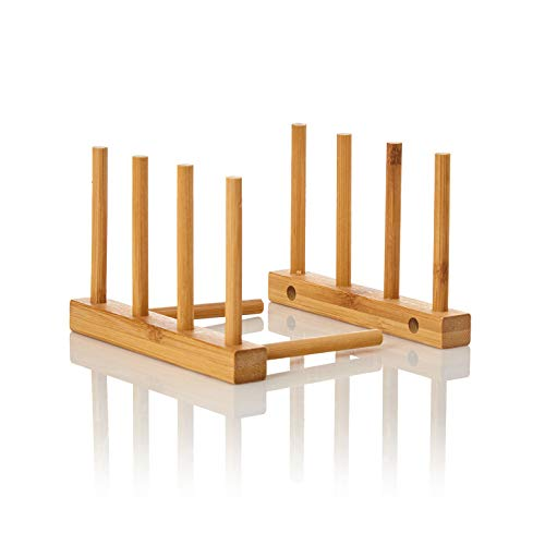 bambuswald© ökologisches Abtropfgestell für Geschirr 100% Bambus | nachhaltiges Abtropfgitter ca. L14xB12xH10,5cm | Abtropfständer für Teller & Tassen | Geschirrabtropfer, Abtropfkorb für Küche, Büro