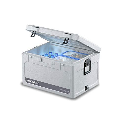DOMETIC Cool-Ice CI 70, tragbare Passiv-Kühlbox / Eisbox, 71 Liter, für Auto, Lkw, Boot oder Camping, Ideal für Angler und Jäger
