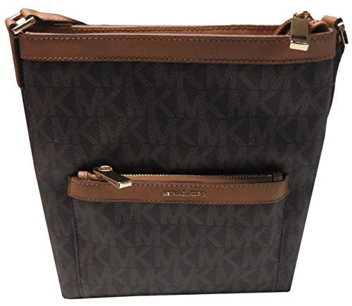 """Top Zip Closure; Gold Tone Hardware; Adjustable Shoulder Strap PVC with Leather Trim Exterior Zipper Compartment Interior Zip Pocket; 2 Slip Pockets Measures Approx: 10"""" x 10"""" x 3.5"""" Inches"""
