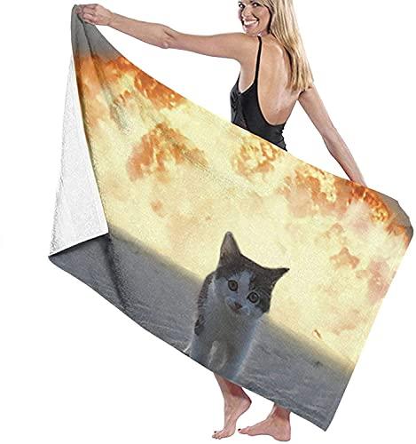 Toallas de baño Fire Cat Beach Holiday Secado rápido Toalla Extra Larga Manta 31 '* 51' para Ducha de natación para niños pequeños