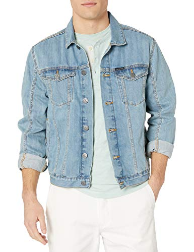 Calvin Klein Men's Denim Trucker Jacket, Light Wash, Large