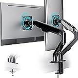 ATUMTEK Monitor Halterung 2 Monitor - Höhenverstellbar Monitorhalterung Schreibtisch Tüllenmontage für 15-32 Zoll LCD LED Bildschirme