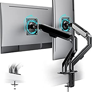 ATUMTEK Dual Monitor Mount Stand - Double Monitor Arm Stand for 15