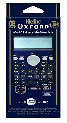 Helix Oxford RC2072 - Calculadora científica (240 funciones), color azul oscuro
