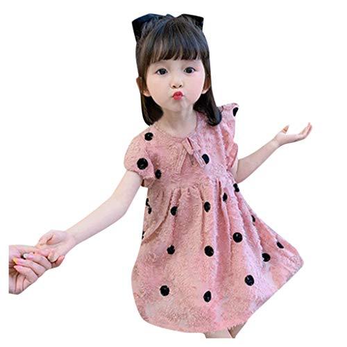 Girls Dresses Baby Toddler Kids Girls Lace Polka Dot Print Princess Tulle Dress Outfits Spring Summer Women top Dressy