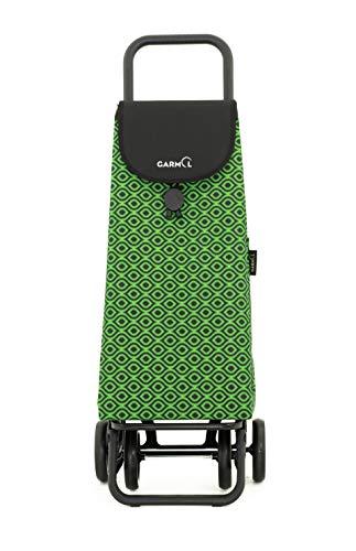 Garmol Carro Compra, Verde/Negro, 55L