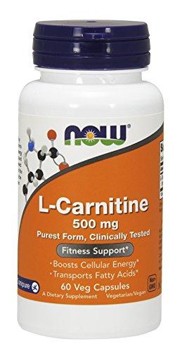 NOW® L-Carnitine, 500 mg, 60 Veg Capsules
