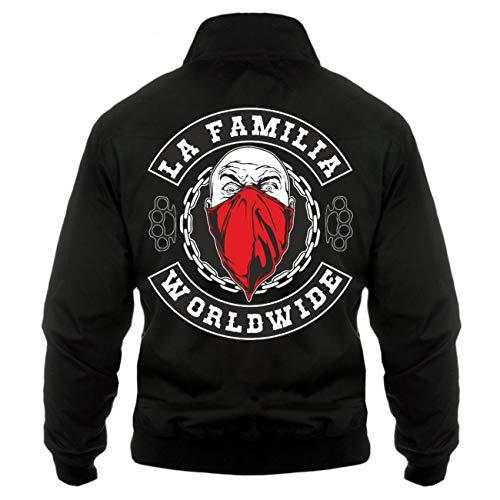 Spaß kostet Männer und Herren Harrington Jacke La Familia Worldwide (mit Rückendruck)
