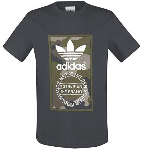 adidas Camo Tee Utiblk T-Shirt für Herren S Schwarz