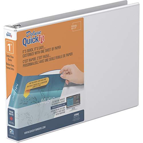 QuickFit Heavy Duty 8.5 x 11 Inch Landscape Spreadsheet View Binder, 1 Inch, Round Ring, White (97110)