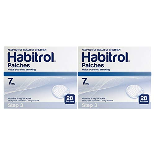 Habitrol 7mg Nicotine Patches, Step 3. Stop Smoking. 2 Boxes of 28 Each (56 Patches) 7 MG