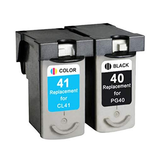 RRWW 40 41 - Cartucho de tinta para impresora Canon IP1180 1800 1980 2580 2680 MP145 198 228 476 (1 negro, 1 tricolor)