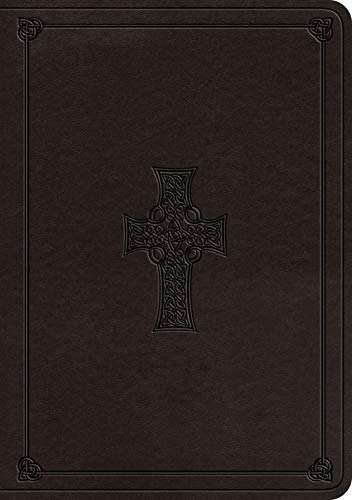 ESV Single Column Journaling Bible, Large Print (TruTone, Charcoal, Celtic Cross Design)