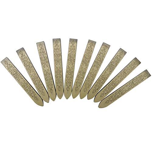 10PCS Sealing Wax Stick, 3,6 Zoll Pfeilmuster Seal Stamp Stick, Coreless, Umschlagversiegelungszubehör, Hochzeitseinladungszubehör(Grün Gold)