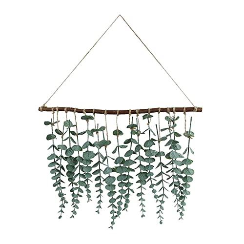 Plantas artificiales 1 establece decoración de la boda Telón de fondo de eucalipto hojas de las plantas artificiales Verdor vides colgar de la pared de la decoración de la boda rústica granja por CHEN