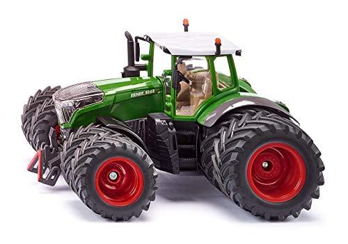 siku 3289, Fendt 1042 Vario Traktor mit Doppelbereifung, 1:32, Metall/Kunststoff, Grün, Abnehmbare Fahrerkabine, Front- und Heckkupplung