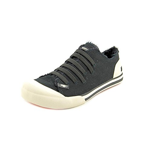 Rocket Dog Womens Joint Sneakers,Black Canvas,8