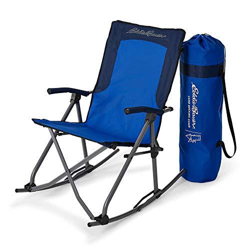 Eddie Bauer Unisex-Adult Camp Rocking Chair, Island Blue Regular ONE SIZE