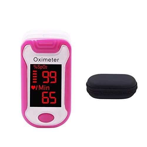 DaTun648 Pulsoximeter, Haushalt Oximeter Fingertip Oximeter Finger-Pulsoximeter Pulsoximeter Herzfrequenzmesser (Color : Rose Red)