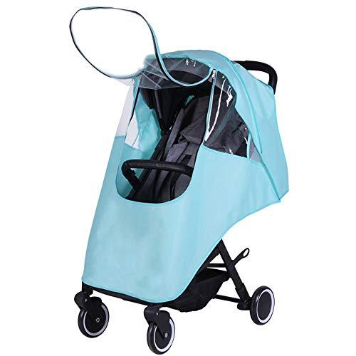 Pluie voiture bébé Couverture Universal Rain Cover landau Chariot Pare-brise bébé poussette parapluie pluie Couverture chaud enfant Pluie et vent Covers ( Couleur : Bleu , Taille : Taille unique )