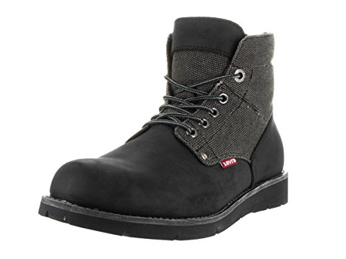 Levi's Men's Jax Hemp Black/Mono/Chrome Boot 10 Men US