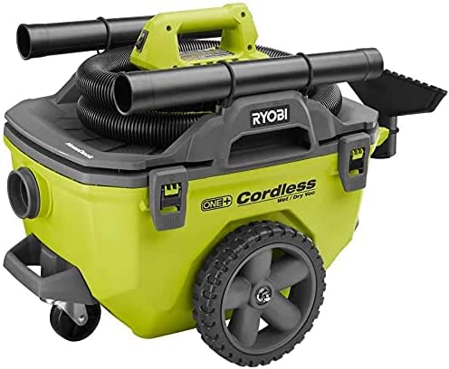 Ryobi 18-Volt ONE+ 6 Gal. Cordless Indianapolis Mall Regular discount wi Bare-Tool Dry Wet Vacuum