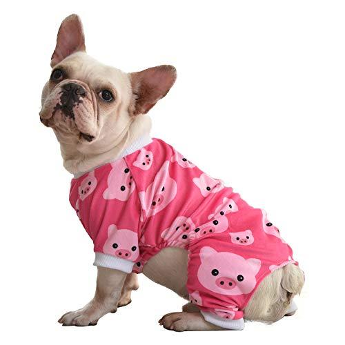 CuteBone P46M Schlafanzug für Hunde, Motiv Schwein, Gr. M, Pink