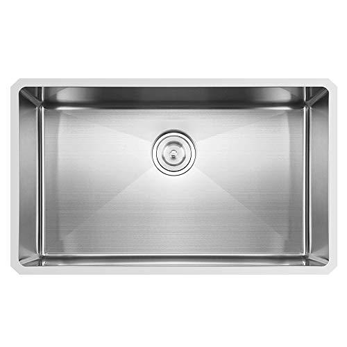 30 Inch 16 Gauge 10 Inch Deep Undermount Single Bowl Stainless Steel Kitchen Sink