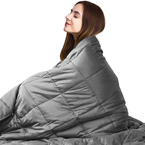 """Giantex Premium Weighted Blanket Smaller Pockets 15lbs 