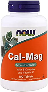 Cal-Mag Stress Formula, 100 Tabs by Now Foods (Pack of 3)
