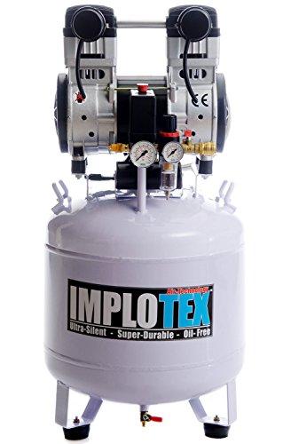 Implotex Silent Fluistercompressor, persluchtcompressor, 60 dB, stil, olievrij, fluistercompressor, compressor