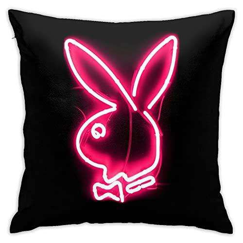 ACPKRPCN Pink Playboy Neon Pillow Case Decorative Custom Square...