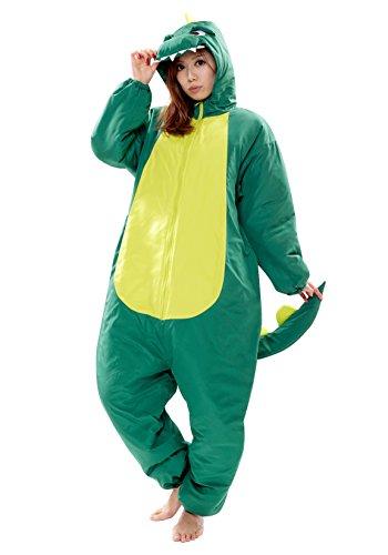 SAZAC Kigurumi Napsack - Wearable, Body-Shaped Sleeping Bag (Dinosaur)