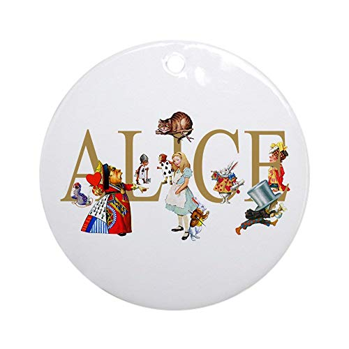 QgjayjqQ ALICE & FRIENDS IN WONDERLAND Ornament (Round) Personalized ceramic Holiday Christmas Tree Ornaments Ideas 2019