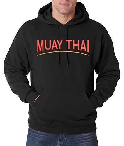 Urban Kingz Geborduurde hoodie voor heren Muay Thai Stick Logo