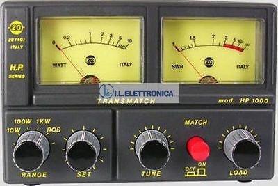 ZETAGI HP-1000 Accordatore completo di Rosmetro/Wattmetro 26-28 MHz