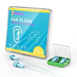 20-Pairs Reusable Silicone Earplugs - Edwinn Corded & Uncorded Noise...